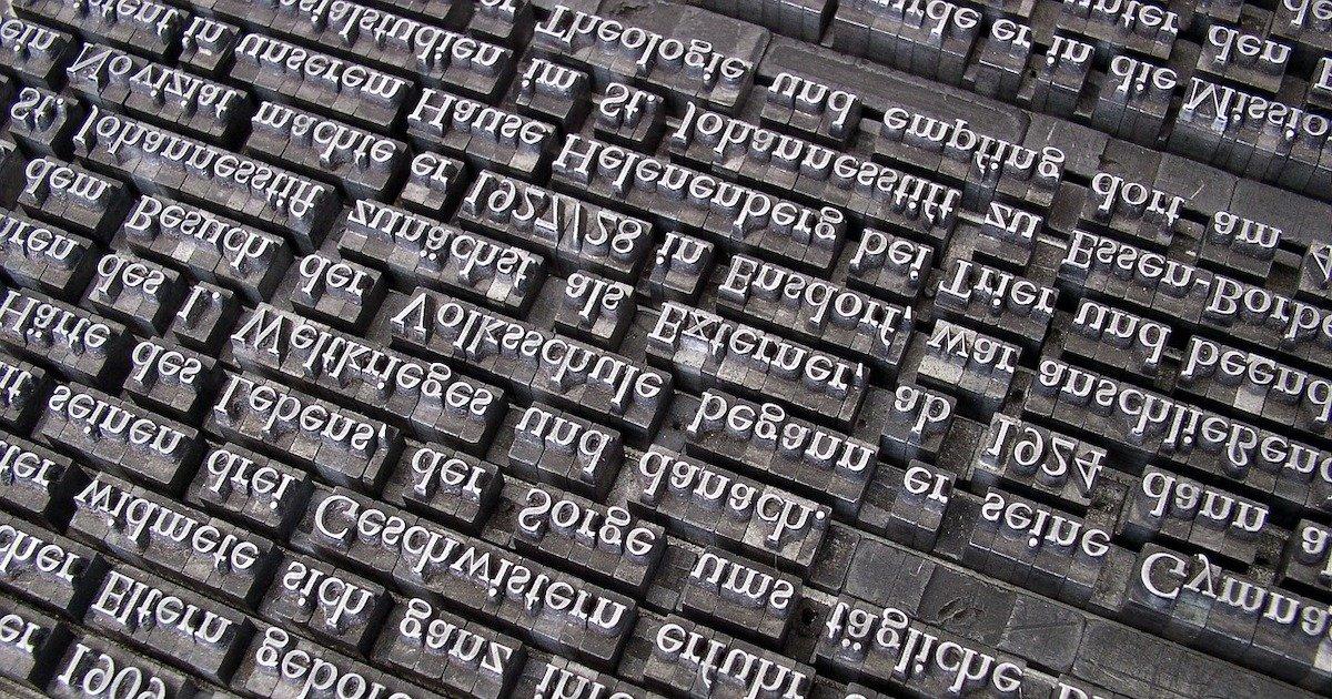 lastra tipografica